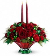 Teleflora's Joyful Christmas Centerpiece Flowers