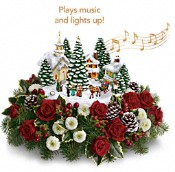 Thomas Kinkade's Christmas Carolers by Teleflora Flowers