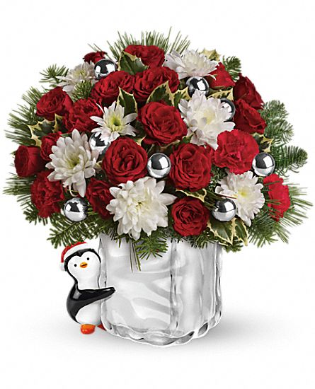 Teleflora's Send a Hug Penguin Bouquet Flowers