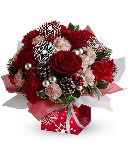 Teleflora's Snow Flurries Present Perfect Flowers