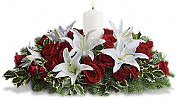Luminous Lilies Centerpiece Flowers