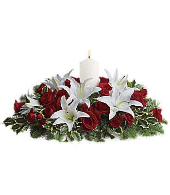 Luminous Lilies Centerpiece Flowers