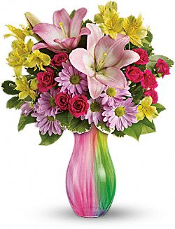 Teleflora's Shades of Spring Flowers