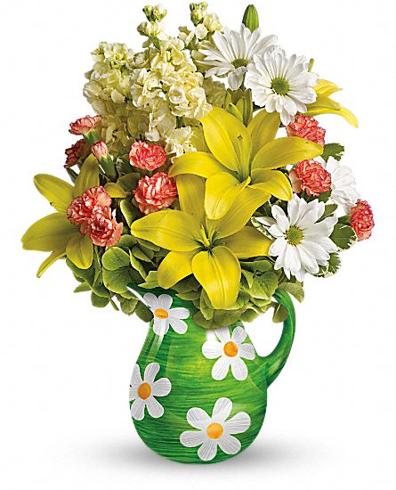 Teleflora's Pitcher of Spring Bouquet Flowers