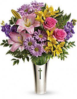 Bouquet Croix argentée de Teleflora