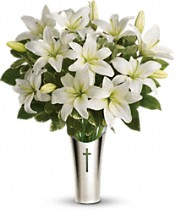 Teleflora's Sacred Cross Bouquet Flowers