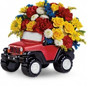 Jeep Wrangler King Of The Road  Flowers