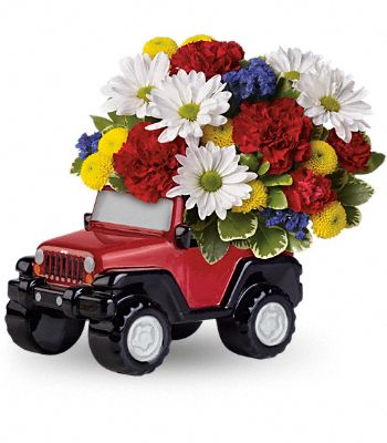 Jeep Wrangler Blazing Trails Bouquet by Teleflora Flowers