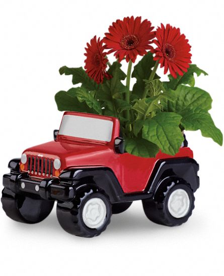 Teleflora's Freewheelin' Jeep Wrangler Plants