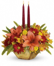 Teleflora's Autumn Reflections Centerpiece Flowers