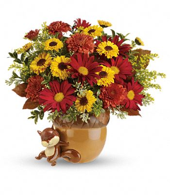 Teleflora's Send a Hug Squirrel Away Bouquet Flowers