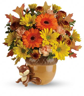 Teleflora's Send a Hug Fetching Fall Bouquet Flowers