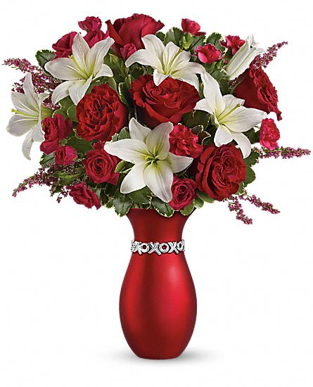Teleflora's XOXO Bouquet with Red Roses Flowers