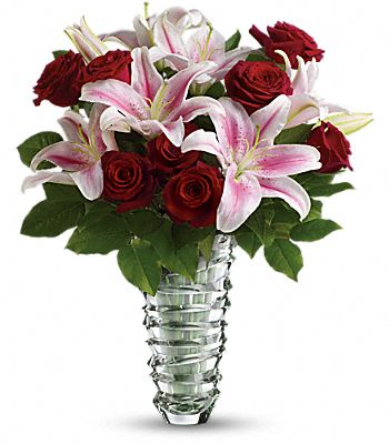 Teleflora's Melt My Heart  - Long Stemmed Roses Flowers