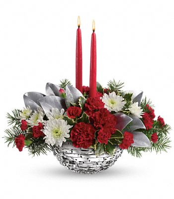 Teleflora's Winter Magic Centerpiece Flowers
