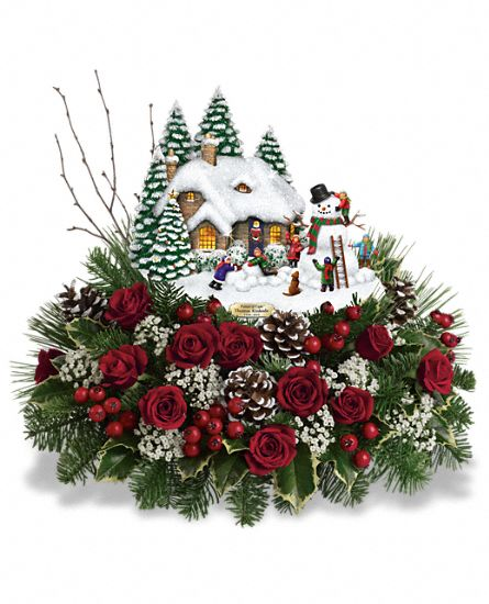 Thomas Kinkade Christmas Winter Wonderland Cottage Gift
