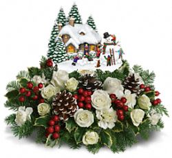 Thomas Kinkade's Snow Time by Teleflora Flowers