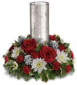 Let's Be Merry Centerpiece by Teleflora Flowers