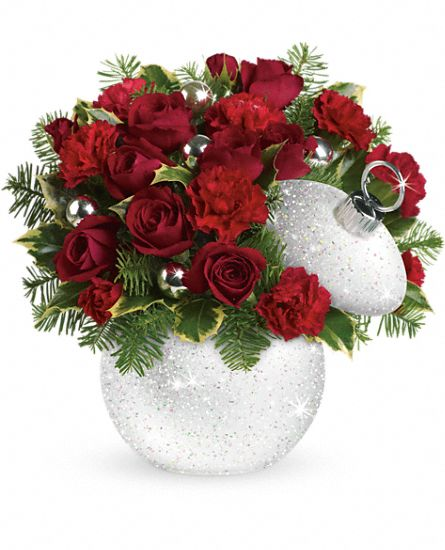 Shimmering Snow Ornament centerpiece