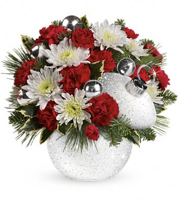 Teleflora's Snowball Surprise Bouquet Flowers