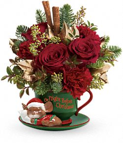 Teleflora's Send a Hug Night Before Christmas Flowers