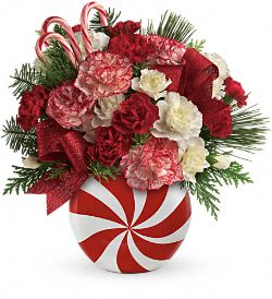 Teleflora's Peppermint Christmas Bouquet Flowers