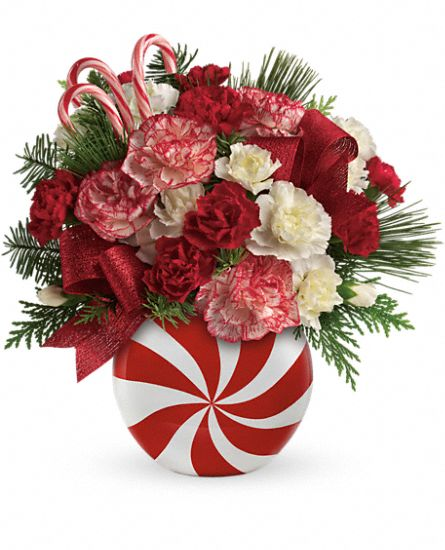 Teleflora's Peppermint Christmas Bouquet