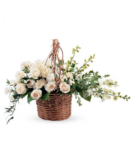 Basket of Light Flowers