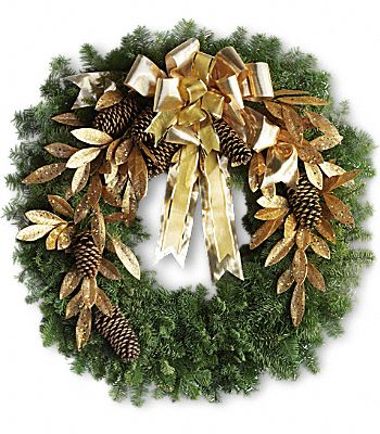 Glitter & Gold Wreath Flowers