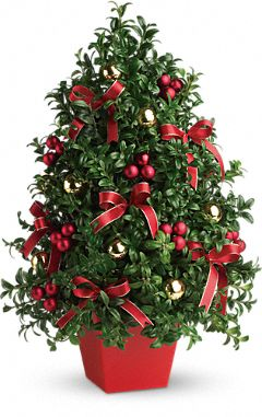Deck the Halls Tree Flowers, Deck the Halls Tree Flower Bouquet - Teleflora.com
