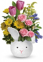 Cuddle Bunny Bouquet Flowers