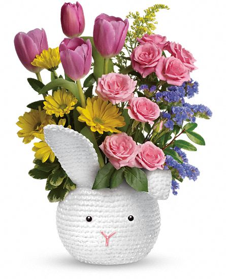 Teleflora's Cuddle Bunny Bouquet Flowers