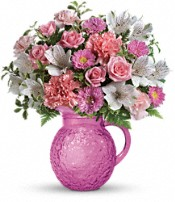 Pour On Pink Bouquet Flowers
