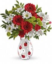 Bouquet de fleurs Belle coccinelle