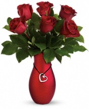 Passion's Heart Bouquet by Teleflora Flowers