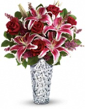Teleflora's Diamonds And Lilies Bouquet Flowers