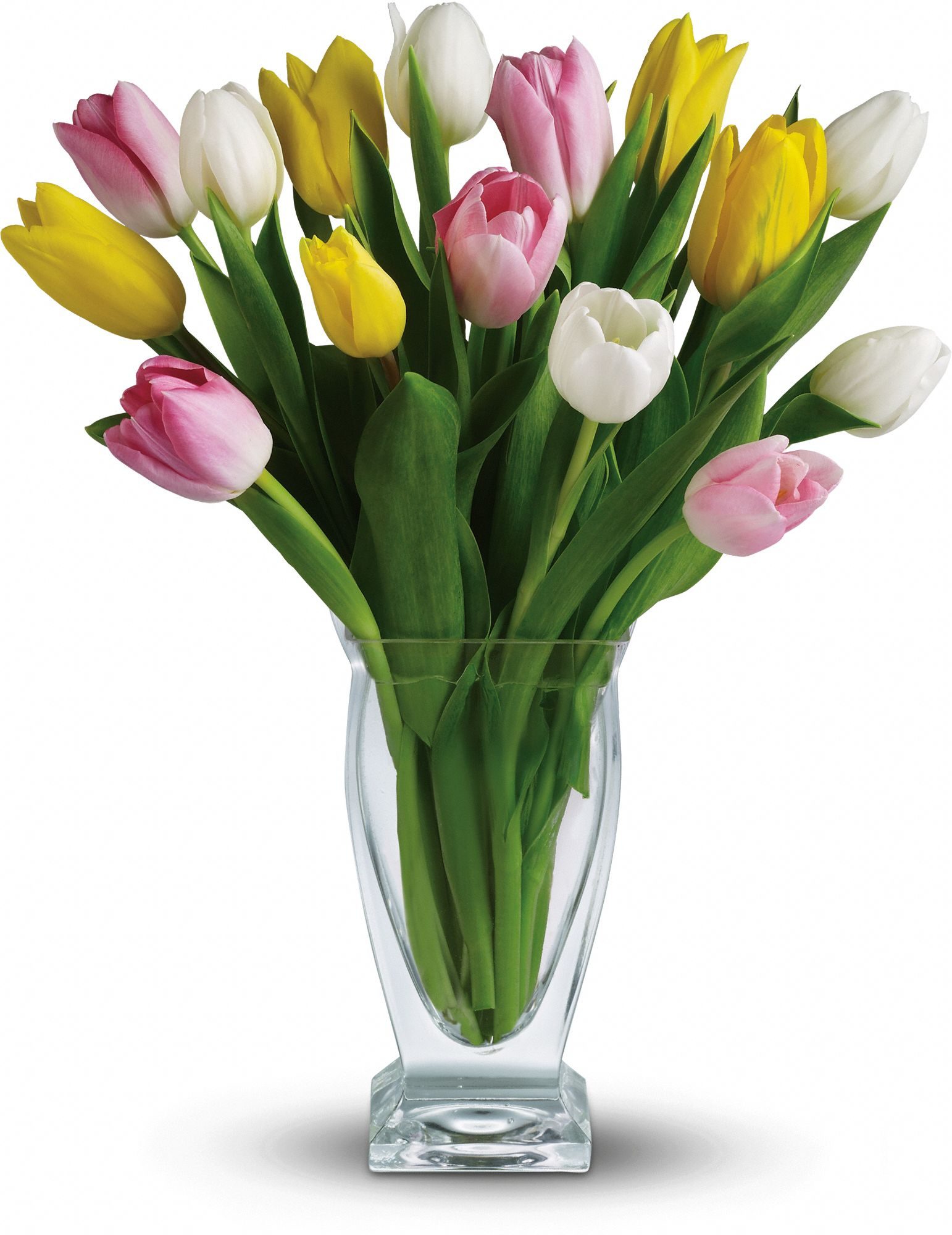 colorful Tulip Treasure bouquet
