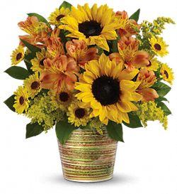 Bouquet de fleurs Grand soleil