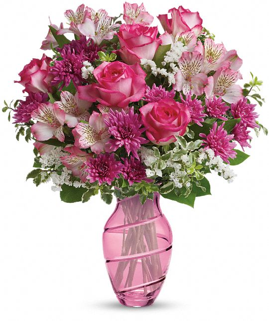 Teleflora's Pink Bliss Bouquet Flowers