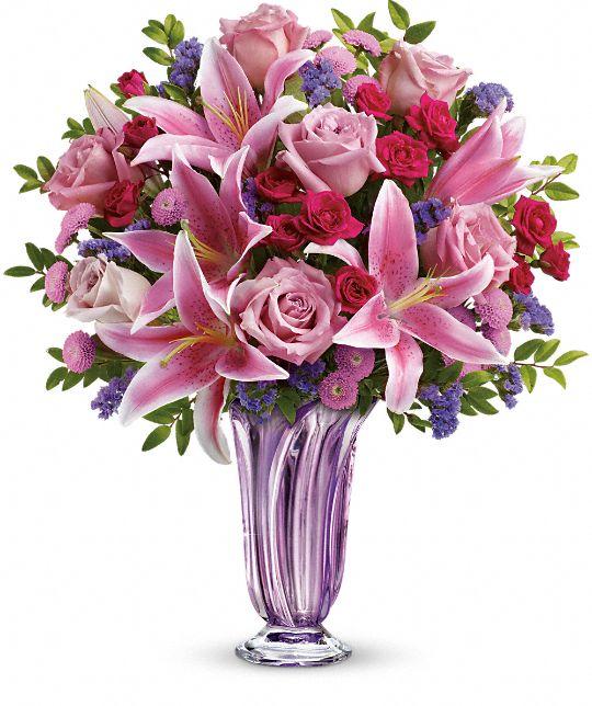 Teleflora's Lavender Grace Bouquet Flowers