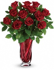 Teleflora's Red Radiance Bouquet Flowers