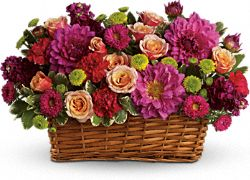 Burst of Beauty Basket Flowers