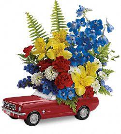 Bouquet de fleurs Ford Mustang de65