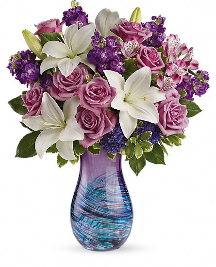 Artful Elegance art-glass vase bouquet