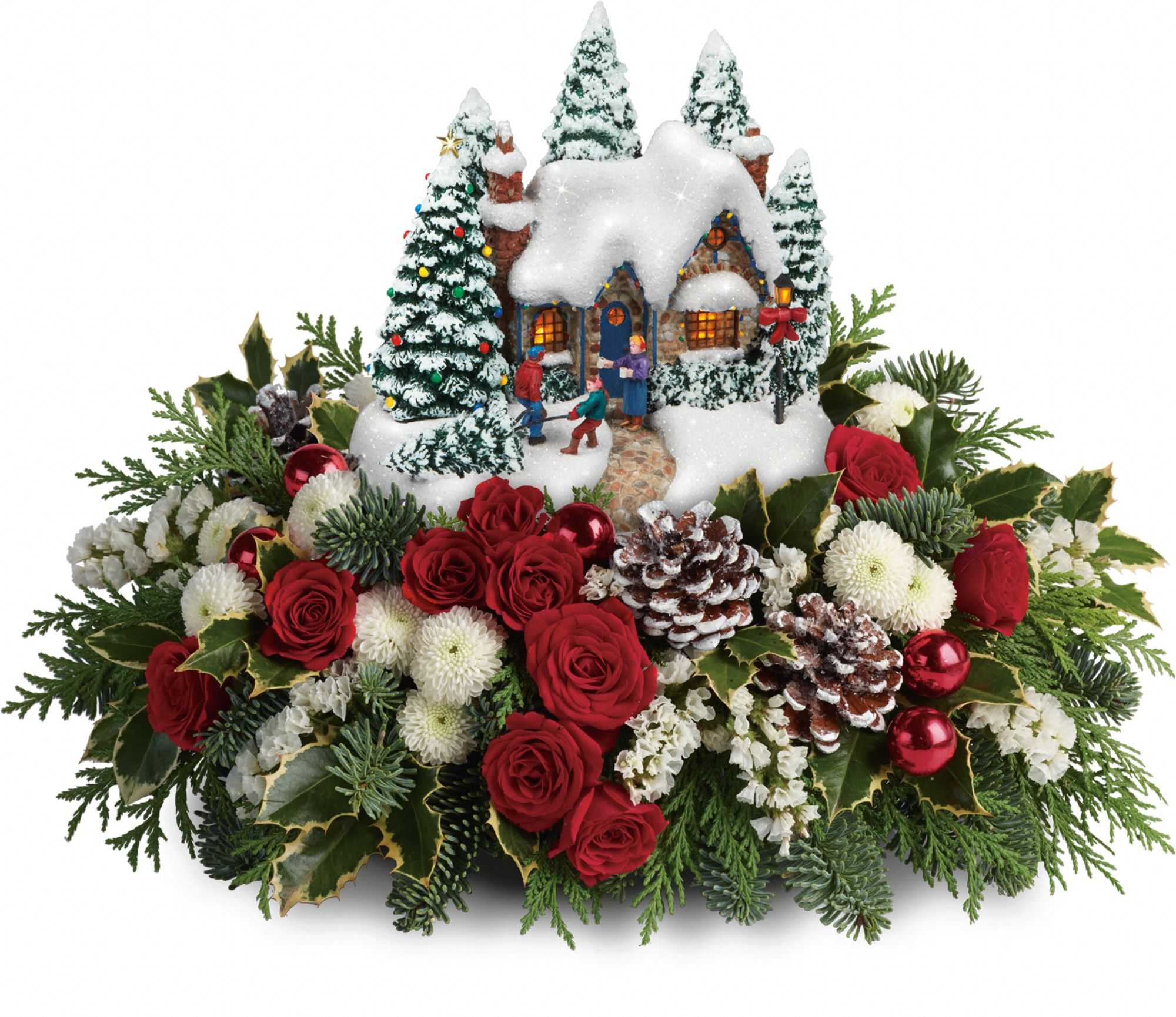 Thomas Kinkade's Country Christmas Homecoming Centerpiece
