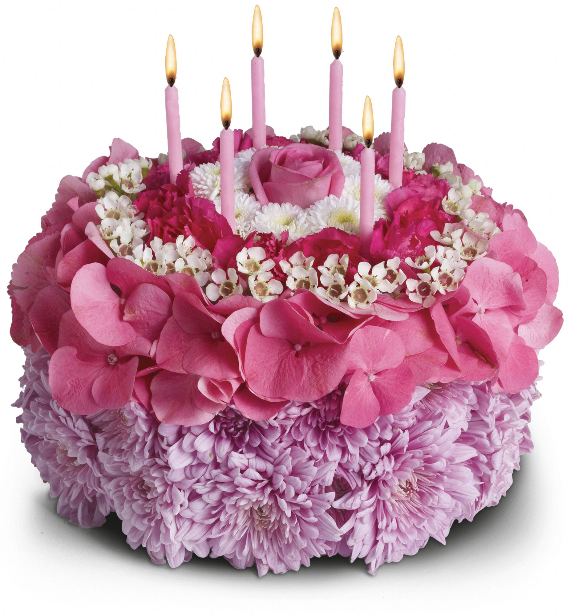 Your Special Day bouquet - flowers in shape of birthday cake