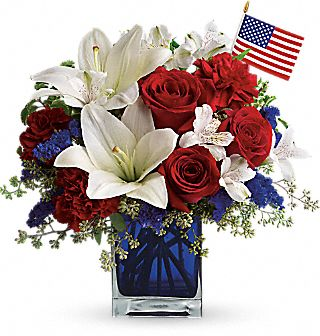 America the Beautiful Patriotic Bouquet