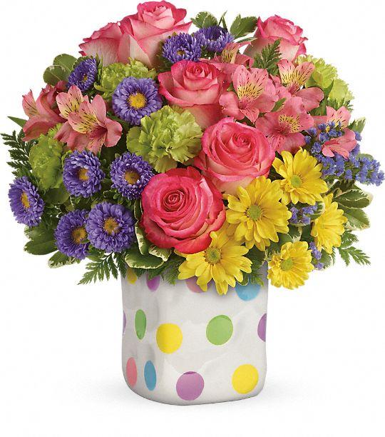 Teleflora's Happy Dots Bouquet Flowers