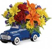 Bouquet de fleurs Camion vintage Ford
