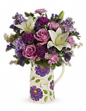 Teleflora's Garden Pitcher Bouquet Flowers